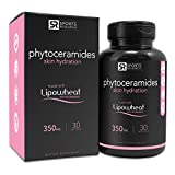 Phytoceramides 350mg made with Clinically Proven Lipowheat | Plant Derived and GMO free with No Fillers or Synthetic Vitamins - 30 liquid softgels, Made in USA