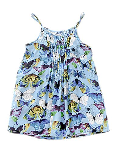 Little Girl Summer Casual Dress - Flower/Unicorn/Bunny/Dinosaur Toddler Cotton Outfit Size 6 ()