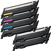 6 Inkfirst® Toner Cartridges CLT-K406S, CLT-C406S, CLT-M406S, CLT-Y406S,Black, Cyan, Magenta, Yellow Compatible Remanufactured for Samsung CLP-365 (1 Set + 2 Black) CLX-3305 CLX-3305FN CLX-3305FW Xpress C410W C460FW CLP-360 CLP-365 CLP-365W