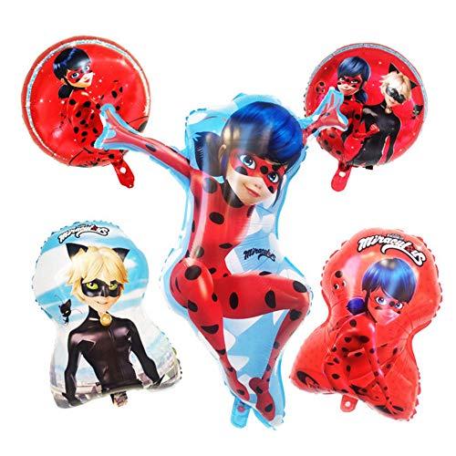 (Miraculous Ladybug Superhero Party Balloons - Birthday Girl Balloon Supplies For A Special Little Super)