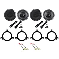 1996-98 Jeep Grand Cherokee Rockford Fosgate Front+Rear Speaker Replacement Kit
