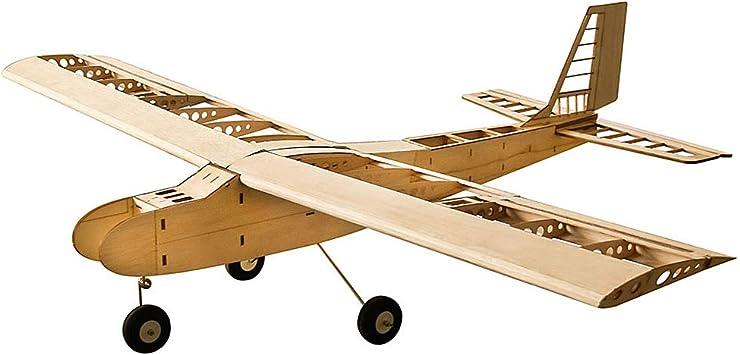Goolsky DW Hobby T4001 Balsa Wood 1550mm Wingspan Biplane RC Juguete de Aviones Kit Avión para Bricolaje: Amazon.es: Juguetes y juegos