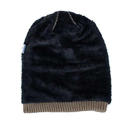 para Sólido Tartán Color de Caqui Sombreros Punto Gorro Invierno Diseño Casual Adulto YiJee Hombre XBw1qxBU