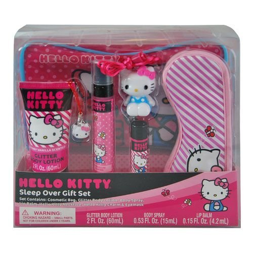 Hello Kitty Cosmetic Set - Hello Kitty Sleep Over Gift Set Popular Cute in Box