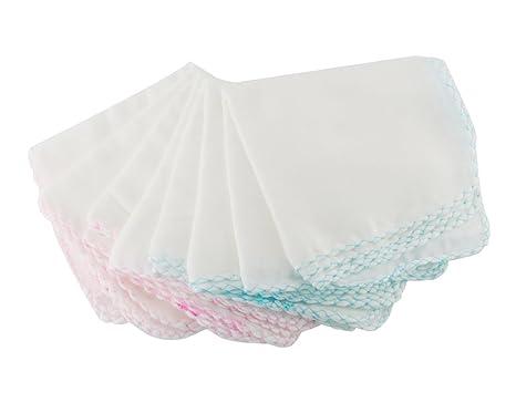 BONAMART ® 10 X baño toalla baños baberos alimentación limpiar paño Toallita algodón Para Bebé
