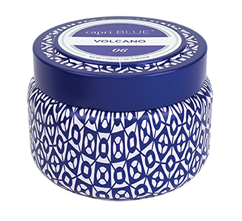 Aspen Bay Capri Blue Volcano Printed Travel Tin Candle, 8.5 - Candle English Stand