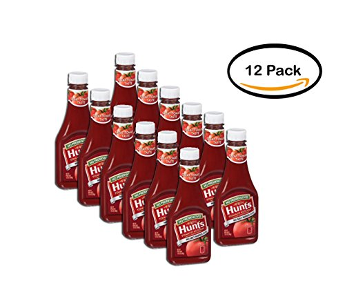 Salt Added Ketchup - PACK OF 12 - Hunt's No Preservatives/No Salt Added Tomato Ketchup 13.5 oz. Squeeze Bottle
