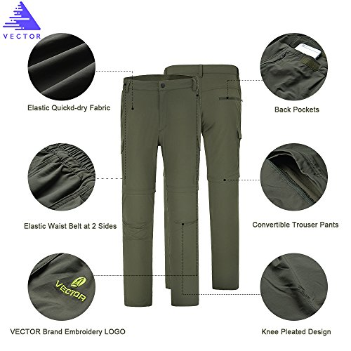 Vector Outdoor Sports Tactical Pants Trouser Exercise Fitness Quick Dry Summer Shorts Men's Convertible Cargo Pants Men Shorts Hiking Pants Mens Convertible Pants With Zipper Pockets