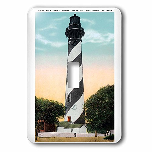 Anastasia Lighthouse - 3dRose lsp_169573_1 Anastasia Light House, St Augustine, Florida Light Switch Cover
