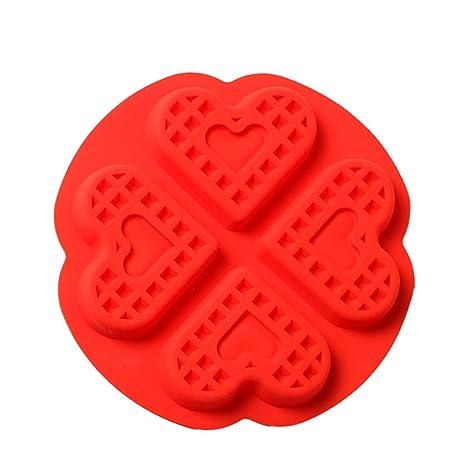 Cosanter 1 x Molde de silicona Forma de corazón Fondant y ángel Candy para tartas para