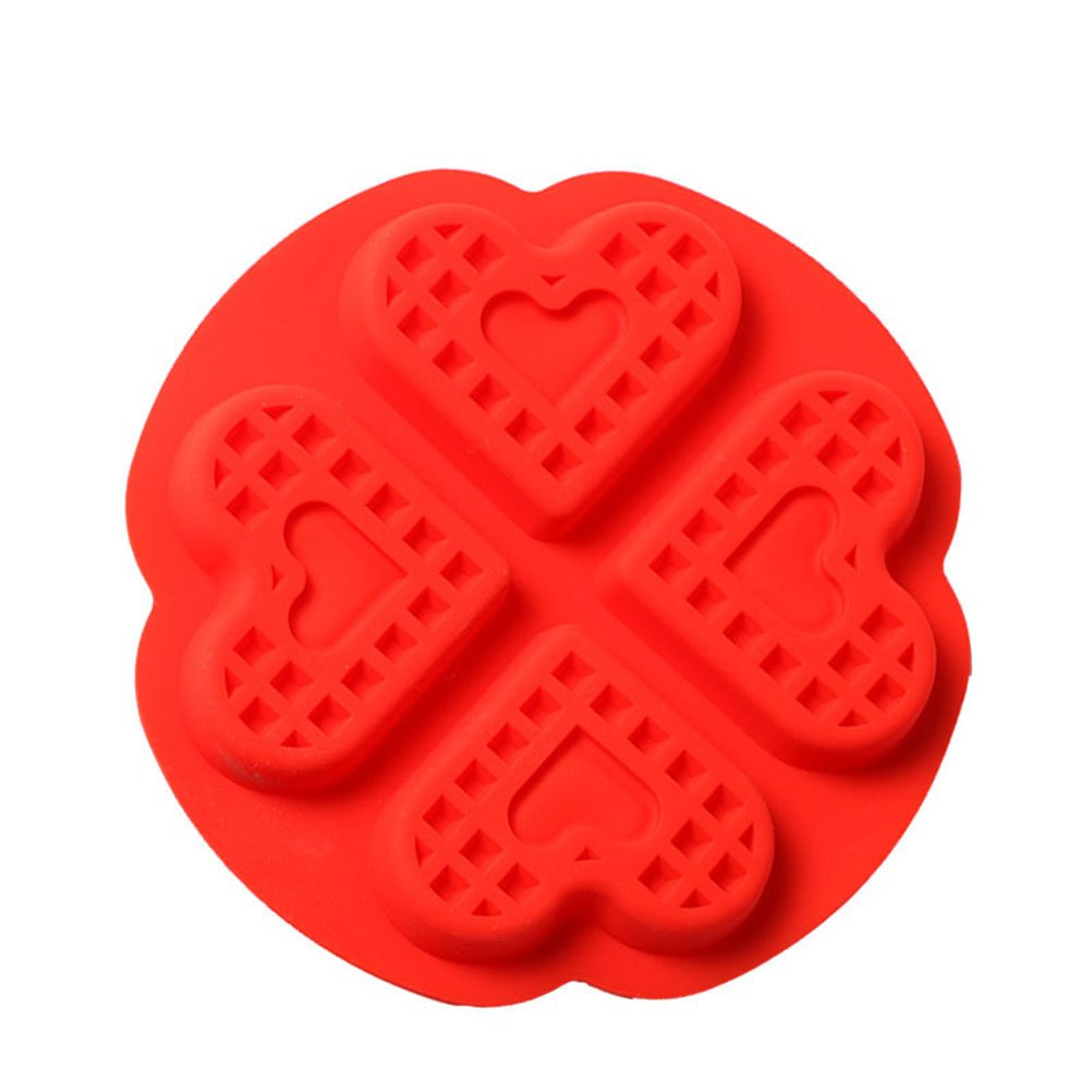 Hosaire 1Pcs/4Cup Double Love Cake Mold Silicone Safety Baking Pan Home DIY Baking Mold Tool