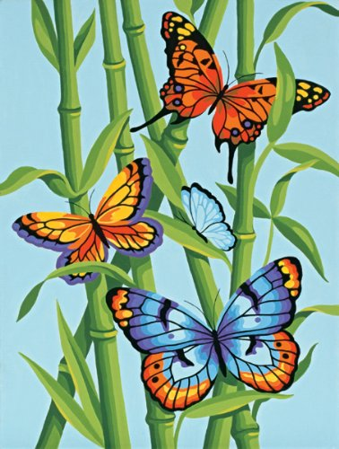 Dimensions Paintworks Paint By Number, Butterflies And Bamboo by Dimensions Needlecrafts