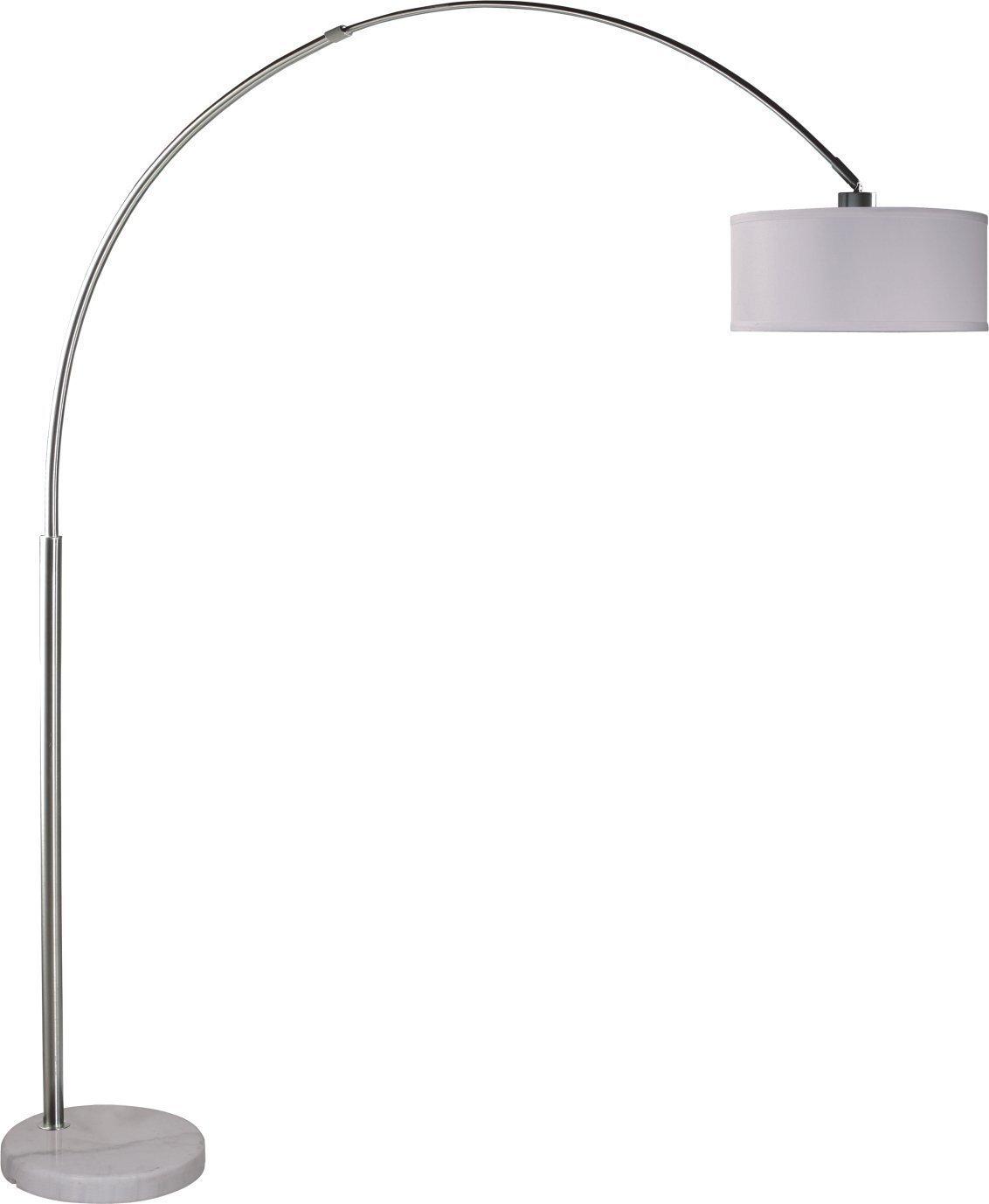 SH Lighting Steel Adjustable Arching Floor Lamp 81'' H (6938WH-LED)