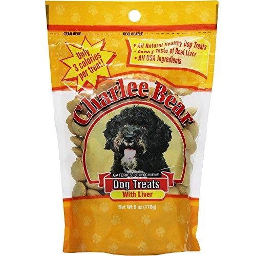 Charlee Bear Dog Treat, 6-Ounce, Liver (Charlee Bear Training Treats)