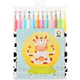 Pinkrise Officemate Milky Colored Gel Point Pen, Rollerball Pens,set of 12 Assorted Colors