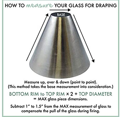 x 8 x 3.5 Base Slumpys Elianna Stainless Steel Draper Glass Slumping Mold 7 Dia