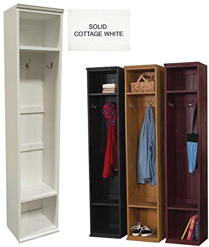 Mudroom Storage Locker (Solid - Cottage White) by Sawdust City