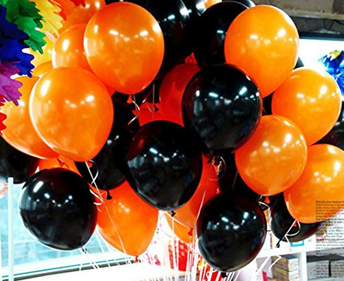 Meiwo 100pcs Halloween Decorative Balloon 12