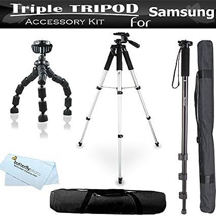 Triple trípode Kit para Samsung NX300 NX300 M DV150 F, WB30 F ...