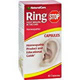 Natural Care Ring Stop - Fight Ringing in the Ears - Homeopathic Remedies - 60 Capsules (Pack of 2)