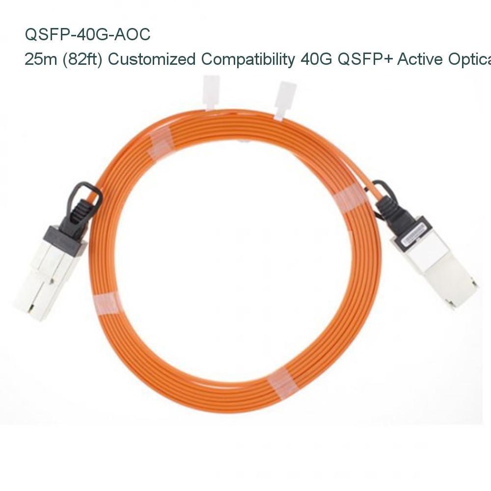 25 M ( 82ft )カスタマイズ互換性40 g Qsfp + Active Opticalケーブル – NETCNA B073X4XVL2