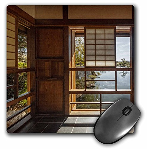 3dRose Boehm Photography Landscape - Japanese Teahouse at The Garden - Mousepad (mp_203954_1) ()