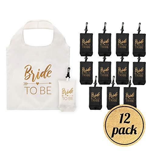 Pop Fizz Designs Bride Tribe Reusable Tote Bags | 12 covid 19 (Bachelorette Party Keychains coronavirus)