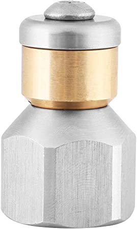boquilla de chorro de alcantarilla de acero inoxidable 304 para limpieza de alcantarillas y desag/ües y limpieza industrial de tuber/ías y tubos Boquilla de limpieza de alcantarillas