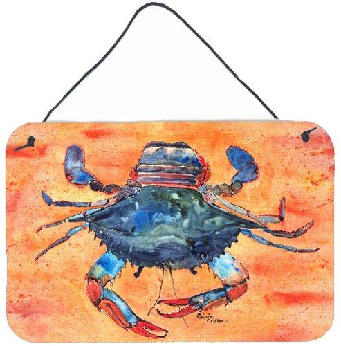 Multicolor 8 x 12 Carolines Treasures 8096DS812 Crab Indoor or Aluminum Metal Wall or Door Hanging Prints