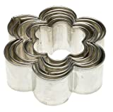 Kaiser Bakeware Flower Cookie Cutter, Set of 6