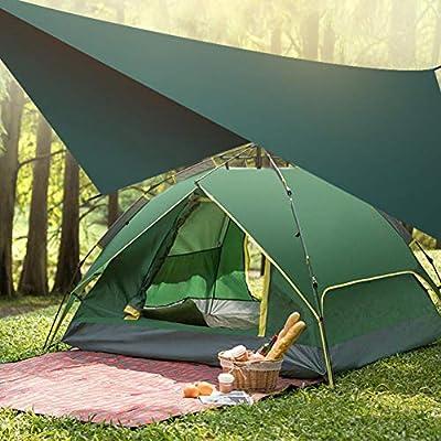 HYXMK Tienda de campaña Ultraligera Lonas Campamento al Aire Libre Supervivencia Sun Shelter Shade Toldo Pérgola Tienda de Playa Impermeable: Amazon.es: Jardín