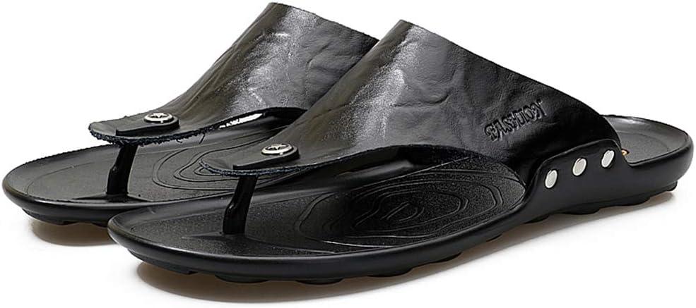 Mens Flip Flops Summer Beach Outdoor Rubber Sole Anti-Slip Breathable Sandals