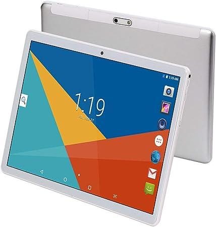 Tableta de 10 pulgadas Octa Core CPU Android 8.1, 4 GB de RAM, 64 GB de memoria interna, cámara WiFi, GPS, Dual SIM, sin bloqueo de red, tableta 3G, ...