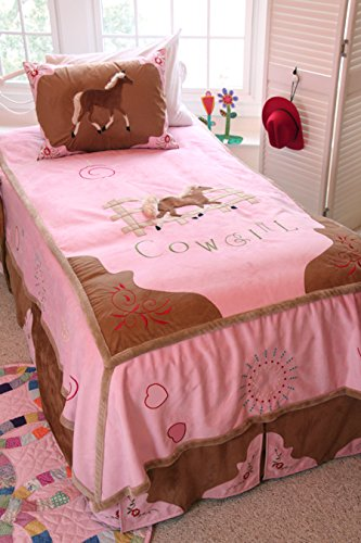 Carstens 3 Piece Cowgirl Bedding Set, Twin