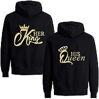 Daisy for U Set hoodies voor koppels, King en Queen pullover met capuchon voor koppels, Valentijnsdag, partnerlook…