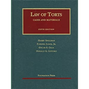 Cases and Materials on the Law of Torts, 5th (Casebook)