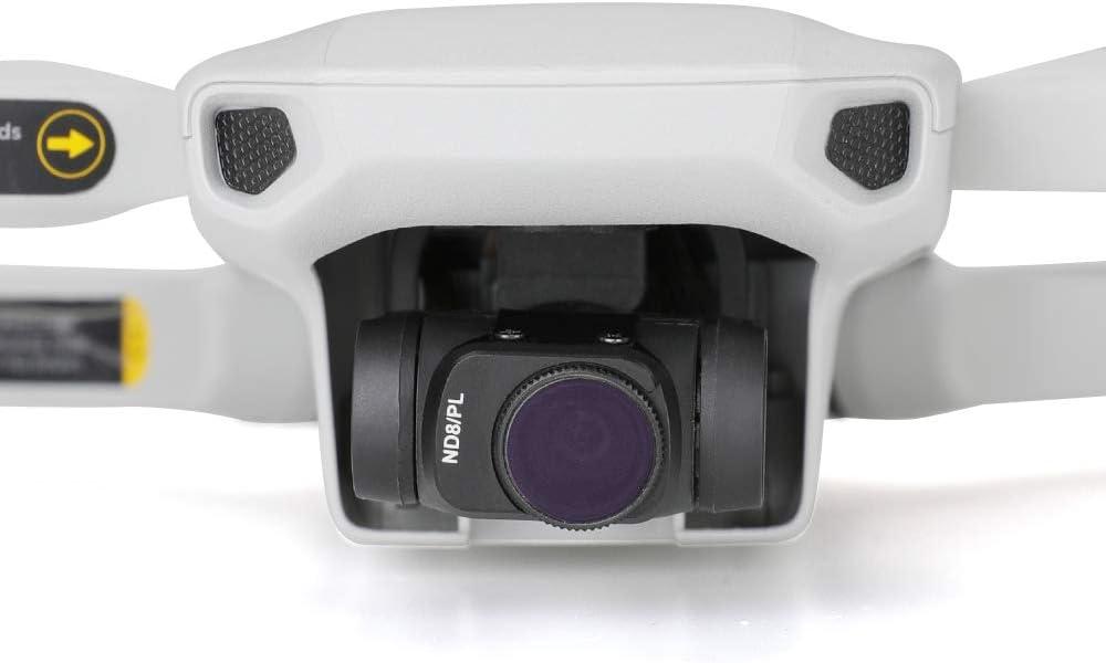 RONSHIN DJI Mavic Mini Aluminum Alloy ND Filters Set ND4//PL ND8//PL ND16//PL ND32//PL ND64//PL Lens Filters with Polarizer for DJI Mavic Mini 4K Drone Camera 4 Piece Set ND8 16 CPL 32-PL