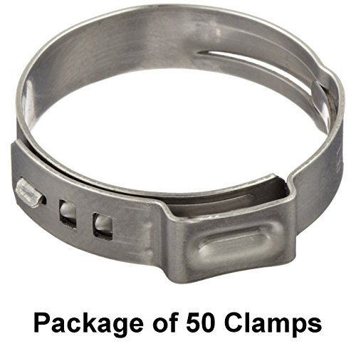 Oetiker 16700004 Stepless Ear Clamp, One Ear 5 mm Band Width, Clamp ID Range 7.8 mm (Closed) - 9.5 mm (Open) (Pack of 50)