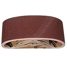POWERTEC 110450 120 Grit Aluminum Oxide Sanding Belts, Pack of 10, 3-Inch X 21-Inch