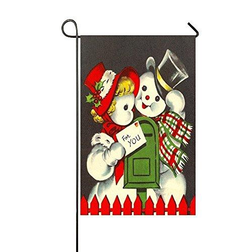 QQshiqI Vintage Christmas Snowman Couple For You Post Card G