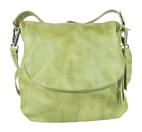 Latico Mercer Shoulder Bag, Grass, One Size (Grass Purse)