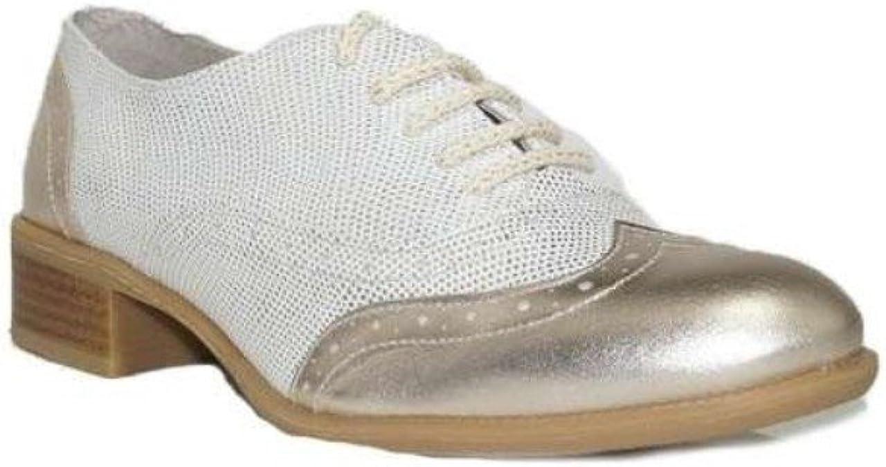 DIGO-DIGO - MOCASÍN Metal Kenia 5000 Zapatos Blucher Mujer Dorado ...