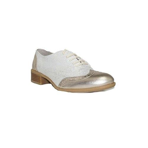 DIGO-DIGO MOCASÍN Metal Kenia 5000 Zapatos Mocasines de Mujer Confort Plateado Dorado