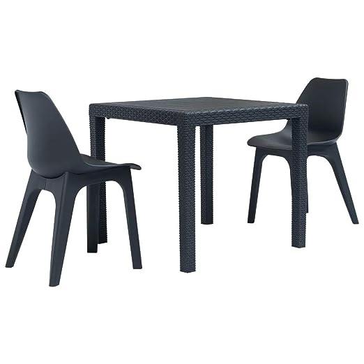 Sedie E Tavoli Da Giardino In Vimini.Soulong Set Tavolo Da Giardino In Rattan Set Da 3 Pezzi Tavolo