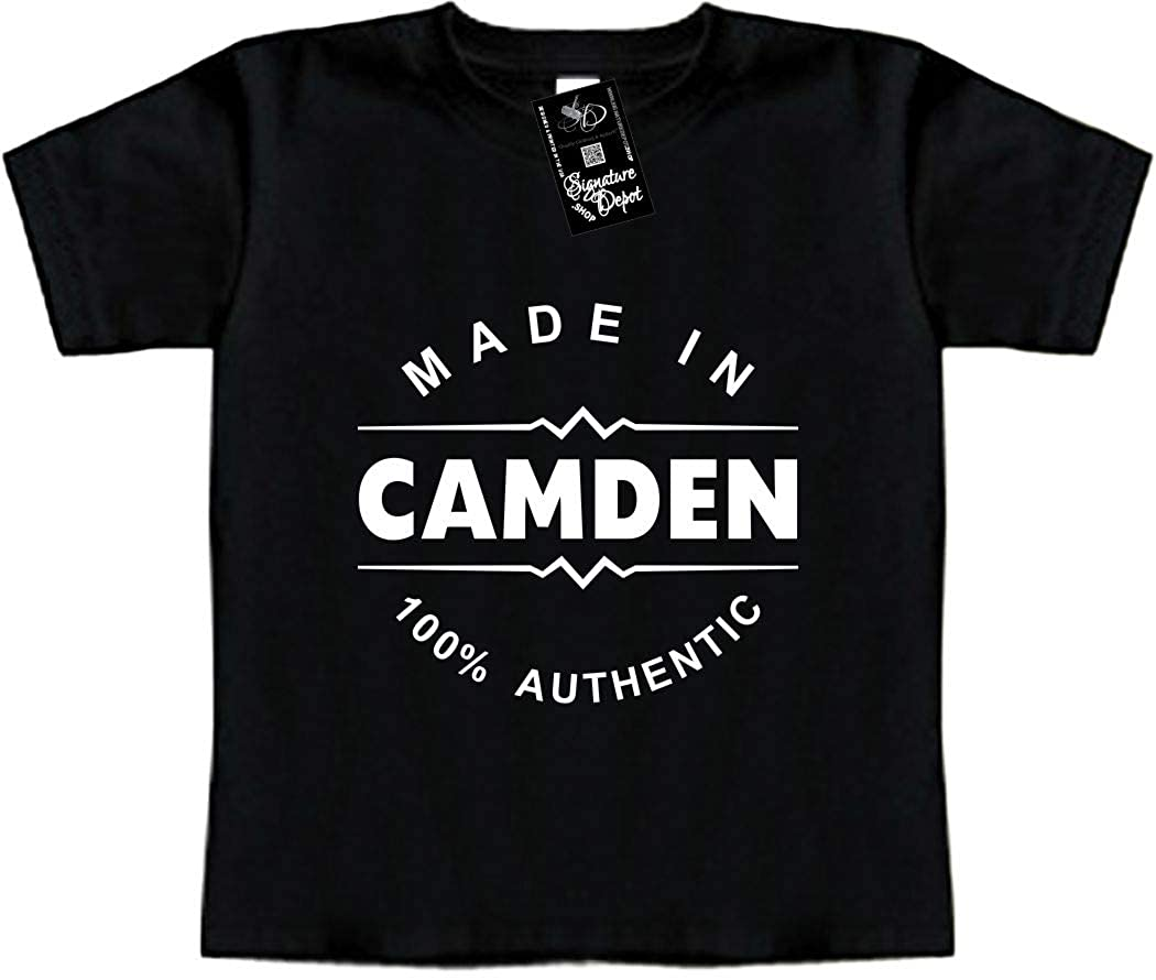 Made in Camden New Jersey, NJ Funny Baby T-Shirt Toddler Tee