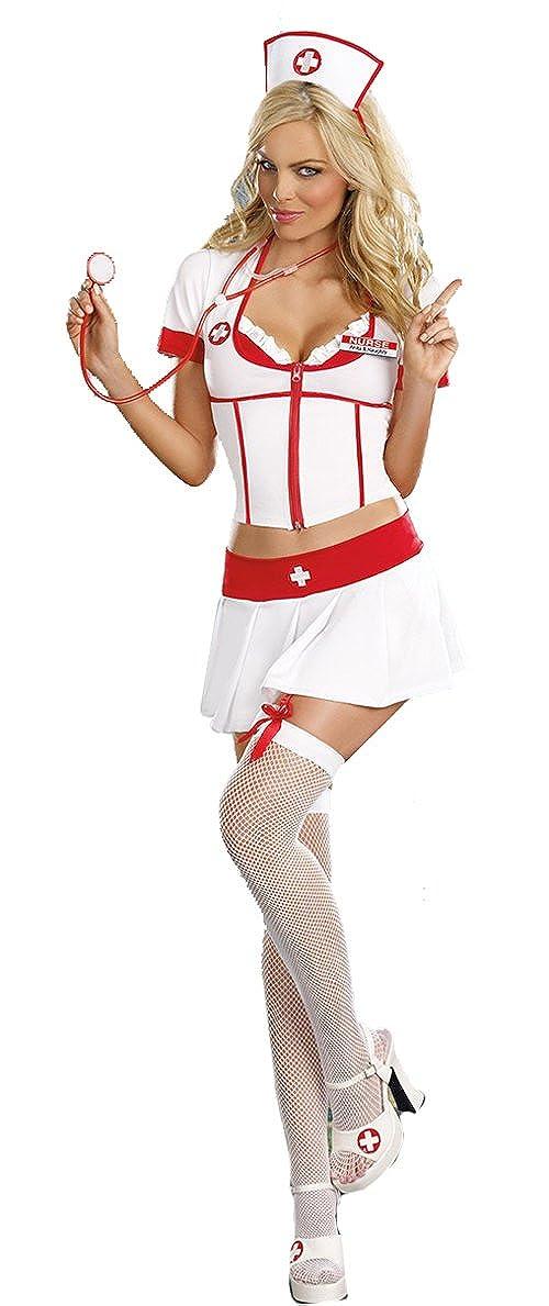 Aimerfeel womans enfermeras equipo atractivo en blanco y rojo 34-40