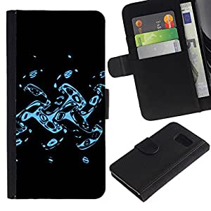 iBinBang / Flip Funda de Cuero Case Cover - Abstract Splash - Samsung Galaxy S6 SM-G920