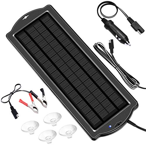 Powoxi Solar Car Battery Trickle Charger Panel Waterproof 12v 1 8w