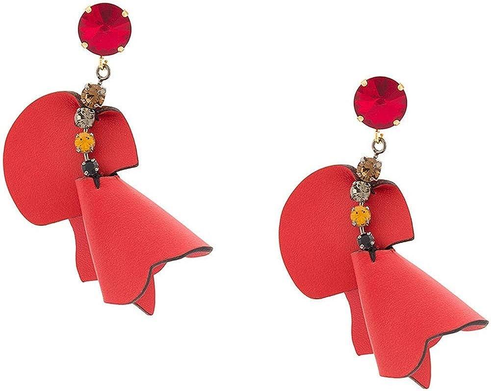 Wbeiba-Ohrringe-damas Ohrringe-Vergoldet, artificiales de color cristal, cuero flor Ohrstecker, Hypoallergen, regalos para las mujeres