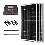 Renogy 300 Watt 12 Volt Monocrystalline Solar Bundle Kit with 30A PWM Controller - LCD Display